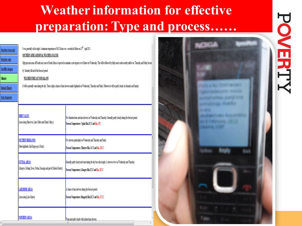 Weather information for effective preparation: Type and process……
