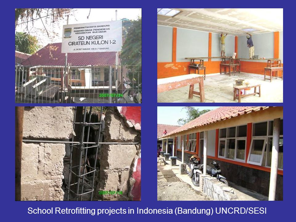 School Retrofitting projects in Indonesia (Bandung) UNCRD/SESI
