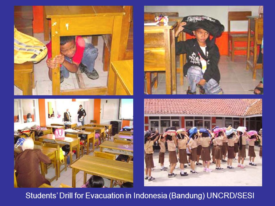 Students Drill for Evacuation in Indonesia (Bandung) UNCRD/SESI