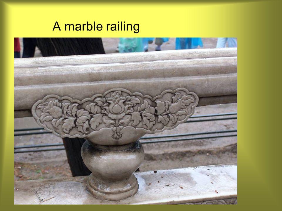A marble railing