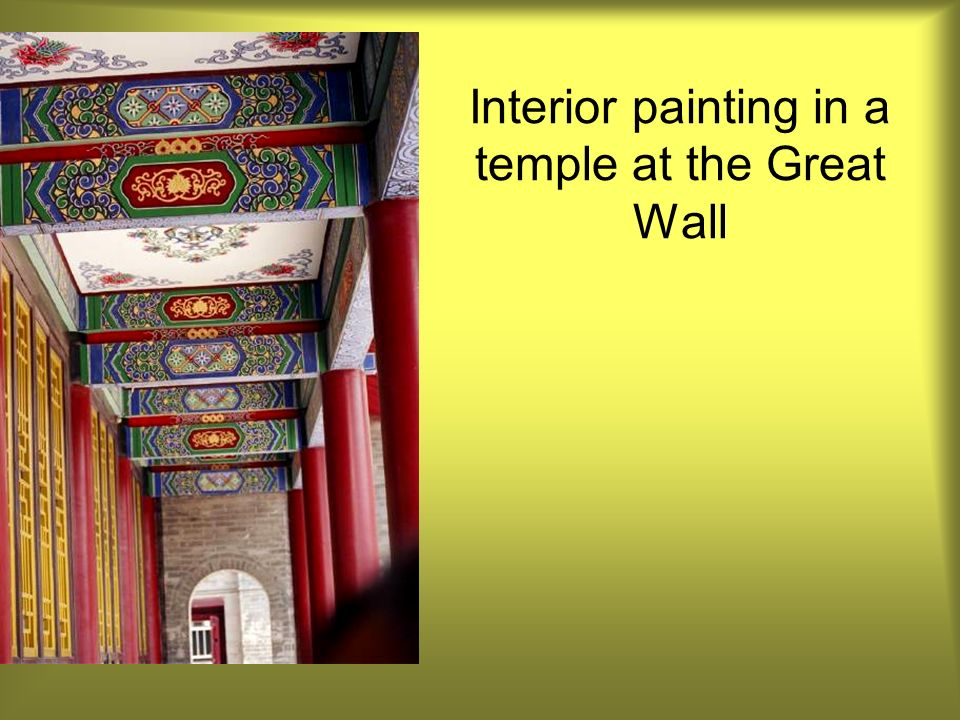 Interior painting in a temple at the Great Wall