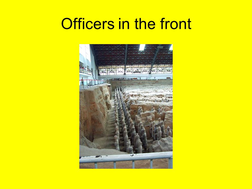 Officers in the front