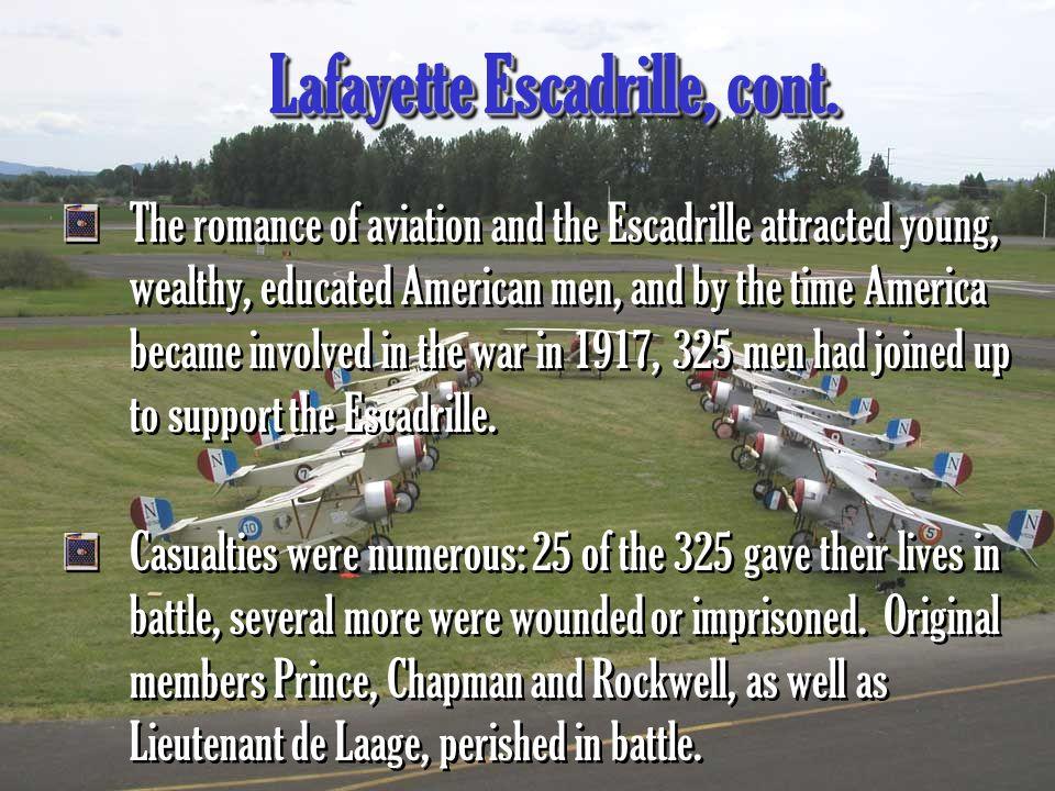 Lafayette Escadrille, cont.