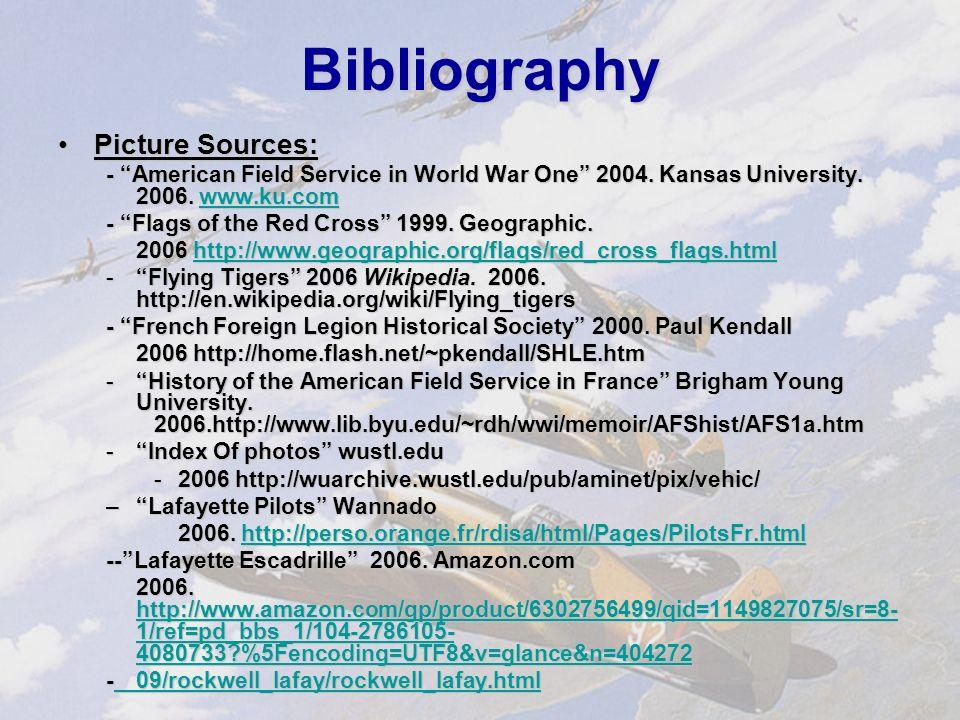 Bibliography Information Sources:Information Sources: –Brandt, Joe, ed.
