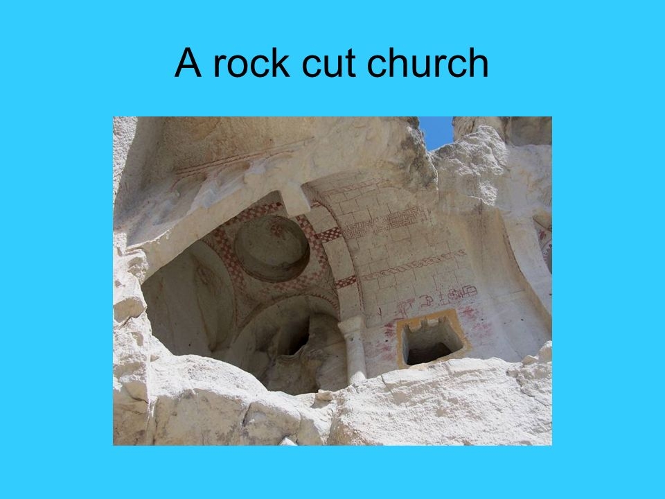 A rock cut church