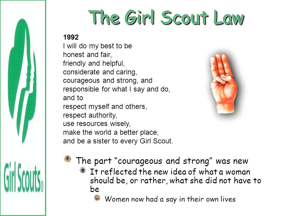 1990s1990s Nearly four million Girl Scouts, girls and adult leaders, tackled illiteracy alongside First Lady Barbara Bush in the Right to Read service