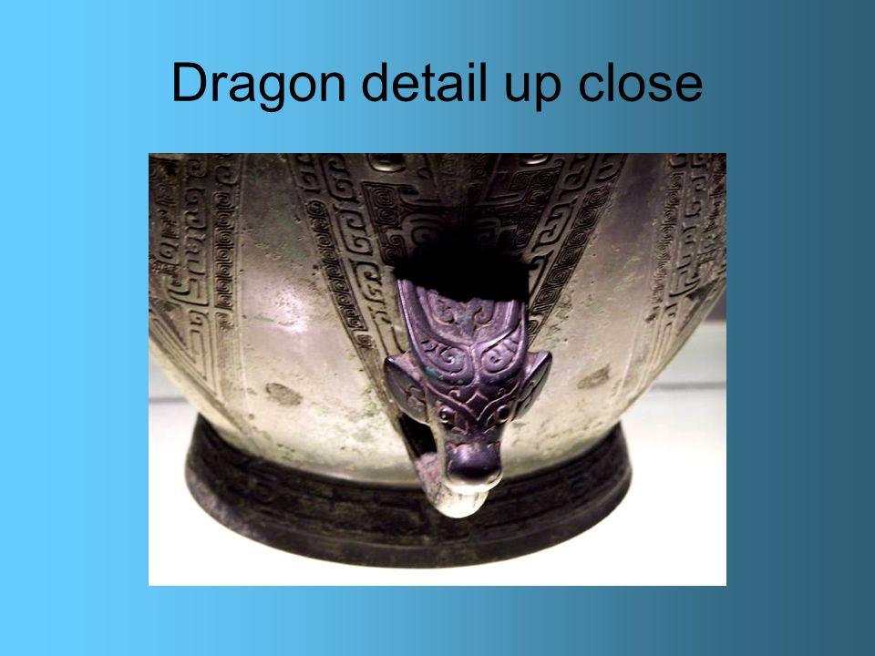 Dragon detail up close