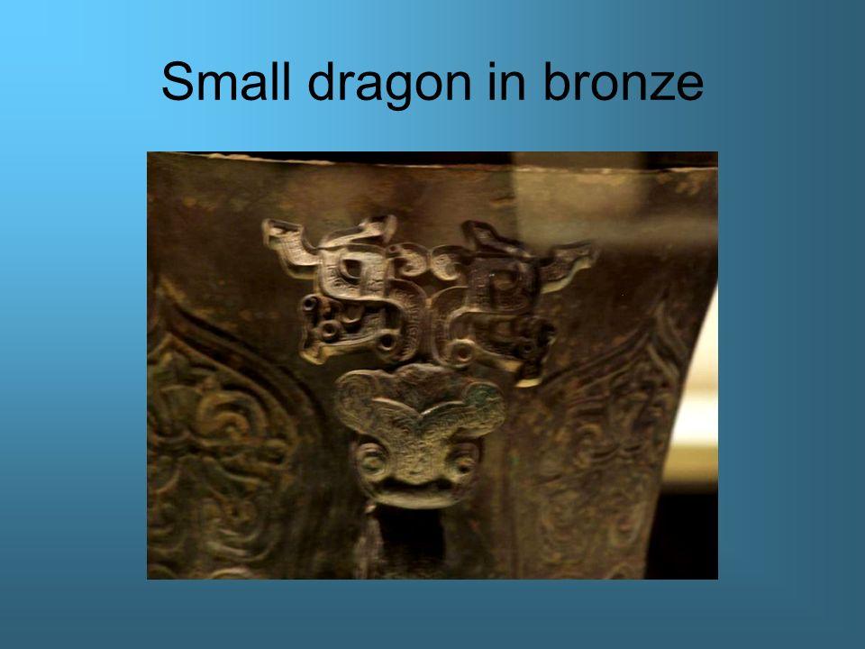Small dragon in bronze