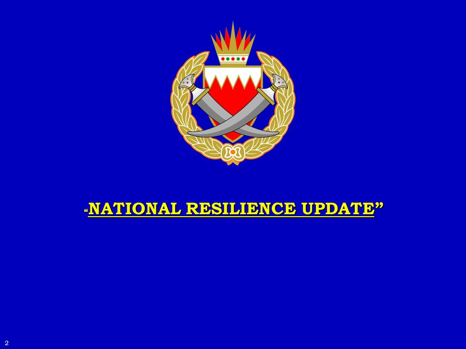 NATIONAL RESILIENCE UPDATE NATIONAL RESILIENCE UPDATE 2