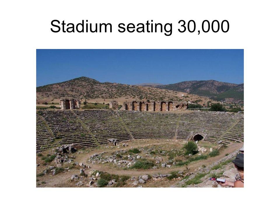Stadium seating 30,000