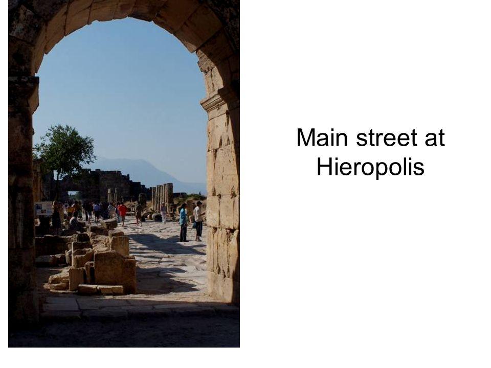 Main street at Hieropolis