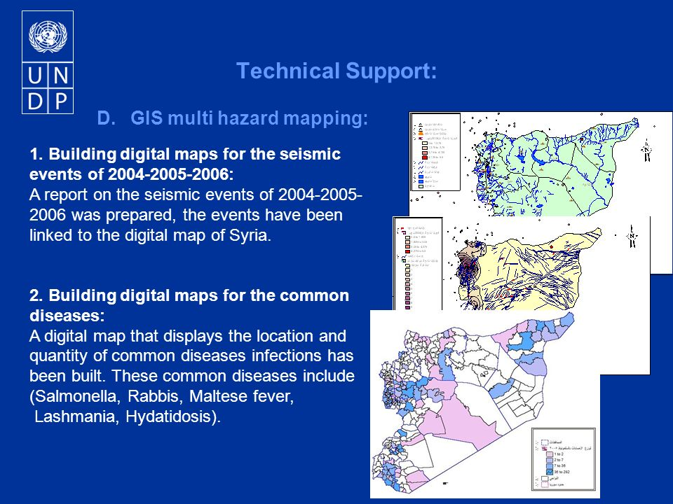 1. Building digital maps for the seismic events of 2004-2005-2006: A report on the seismic events of 2004-2005- 2006 was prepared, the events have bee