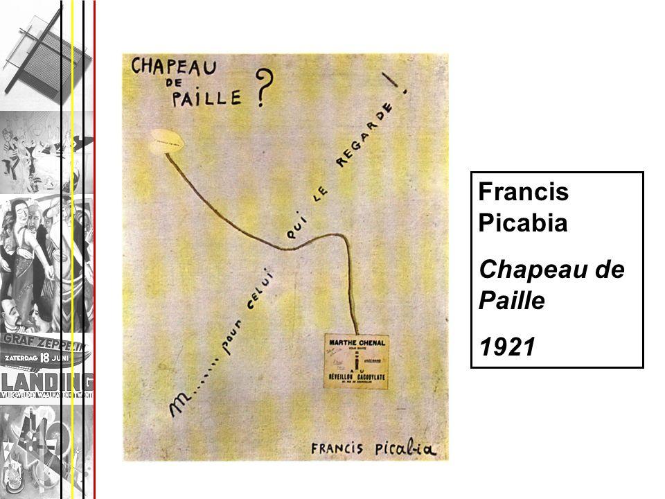 Francis Picabia Chapeau de Paille 1921