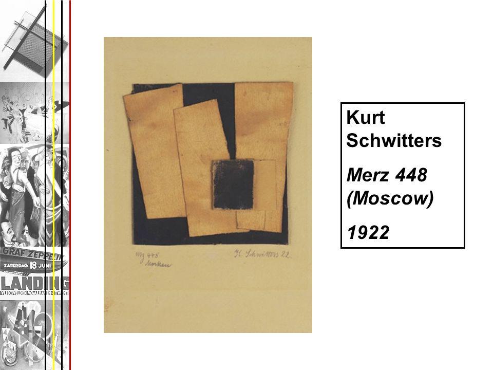 Kurt Schwitters Merz 448 (Moscow) 1922