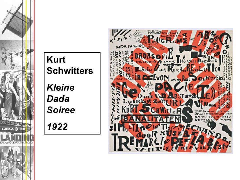 Kurt Schwitters Kleine Dada Soiree 1922