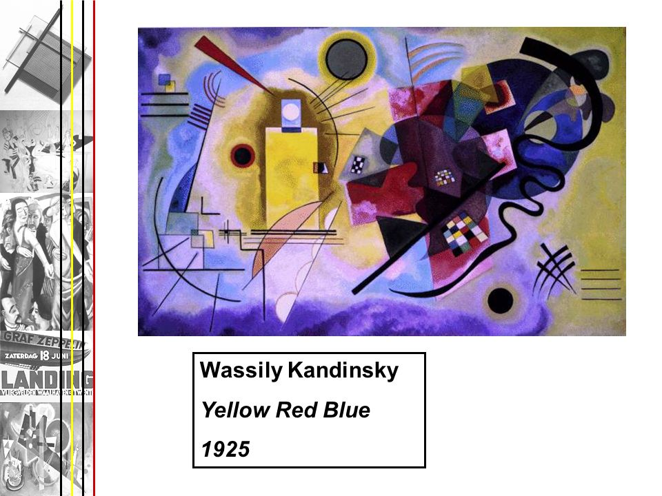 Wassily Kandinsky Yellow Red Blue 1925