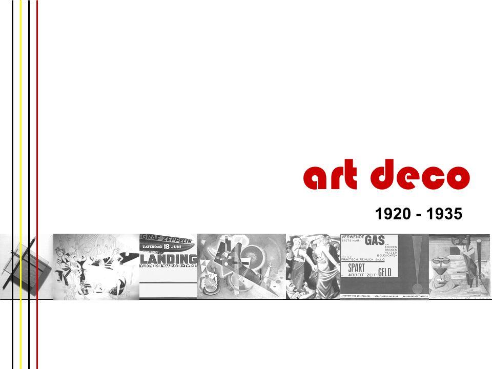 art deco 1920 - 1935