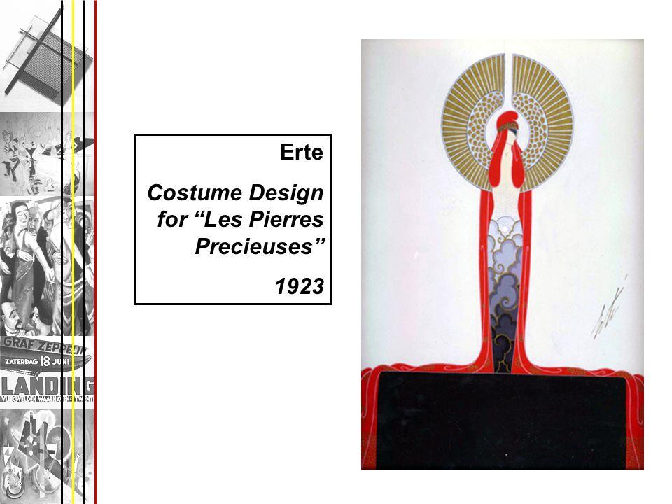 Erte Costume Design for Les Pierres Precieuses 1923