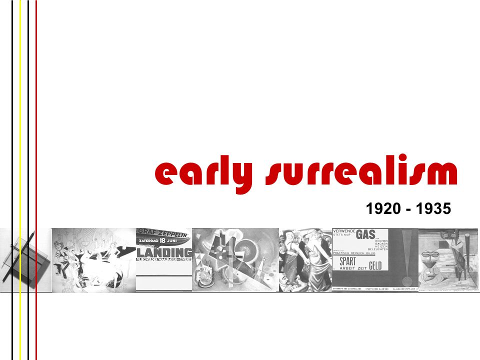 early surrealism 1920 - 1935