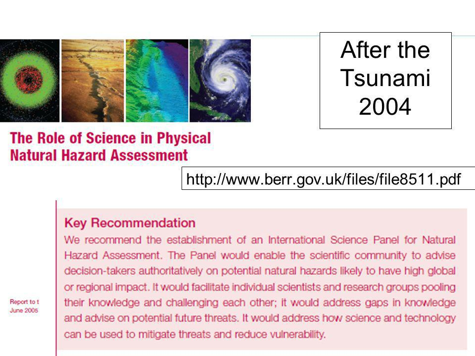 www.unisdr.org 3 Meeting of National Platforms and HFA Focal Points 11-13 November 2009 After the Tsunami 2004 http://www.berr.gov.uk/files/file8511.pdf