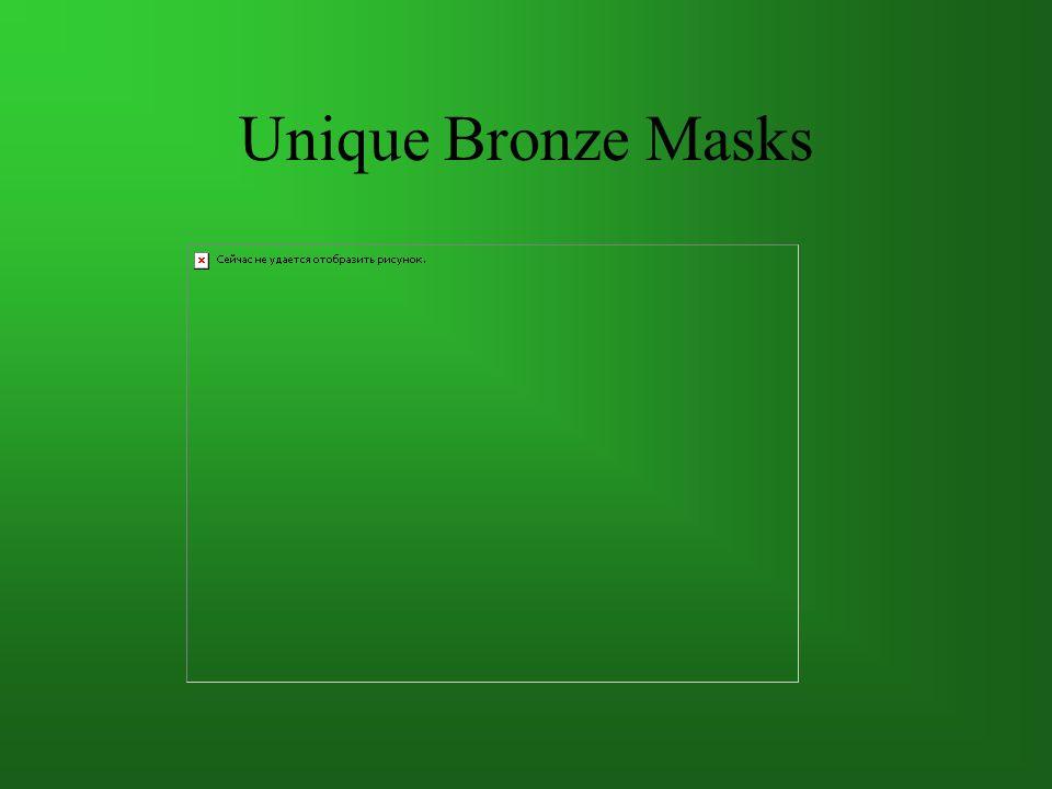 Unique Bronze Masks