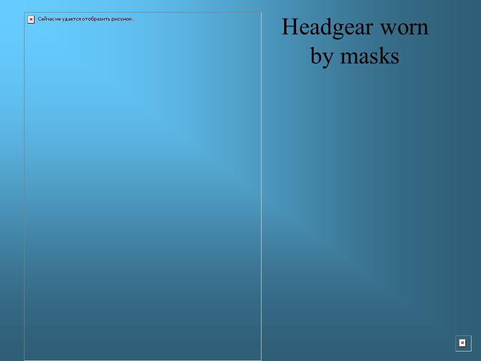 Headgear worn by masks