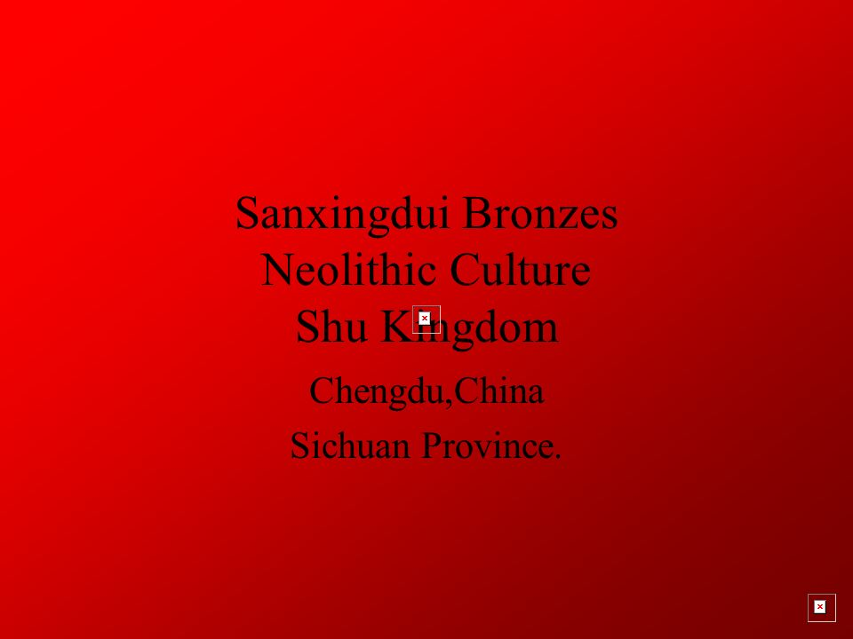 Sanxingdui Bronzes Neolithic Culture Shu Kingdom Chengdu,China Sichuan Province.
