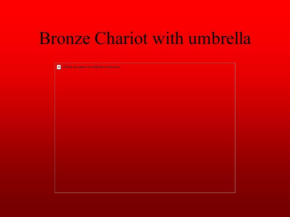 Bronze Chariot with umbrella