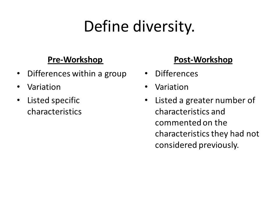 Define diversity.