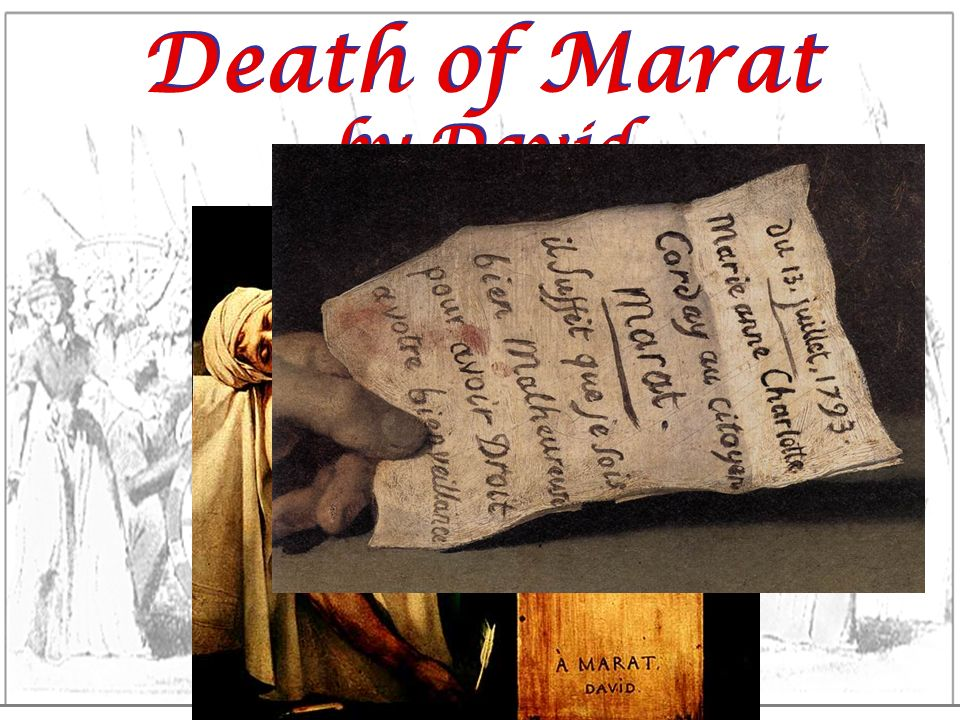 Death of Marat by David