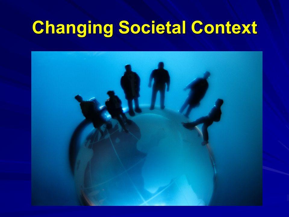 Changing Societal Context