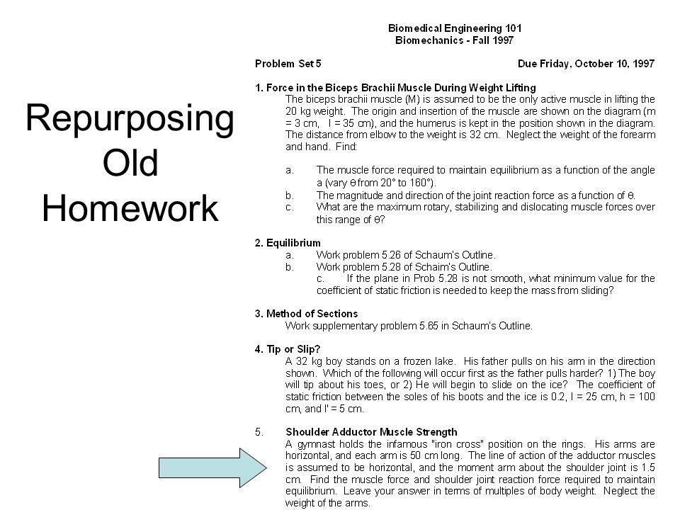 Repurposing Old Homework