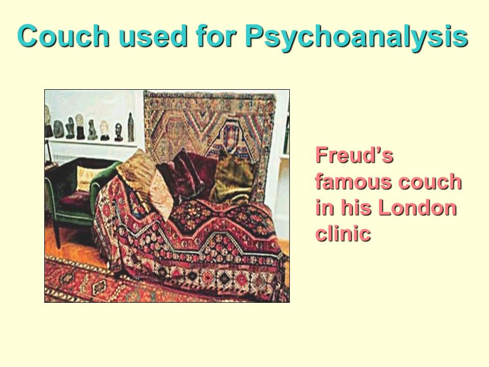 Couch used for Psychoanalysis Freuds famous couch in his London clinic
