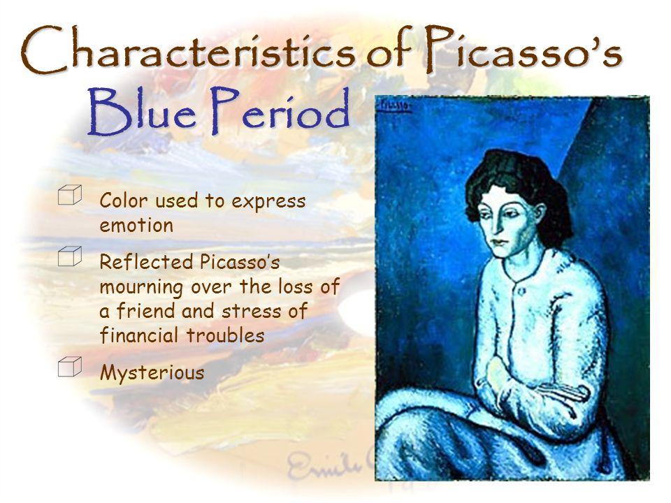 Picassos Blue Period, contd.