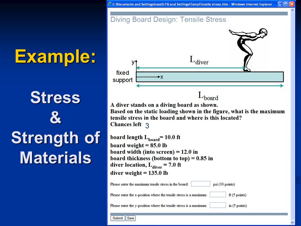 3 Example: Stress & Strength of Materials