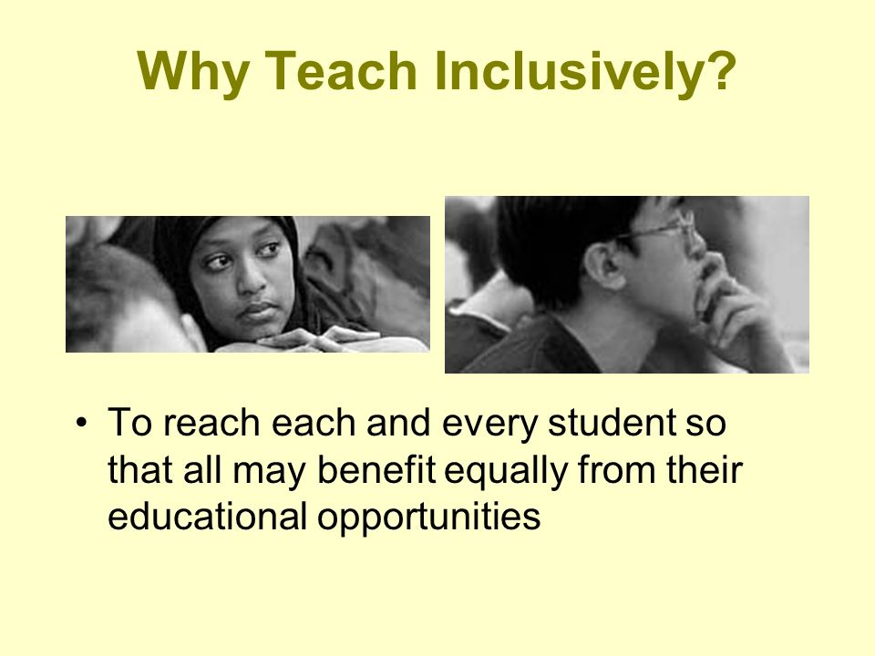 Why Teach Inclusively.