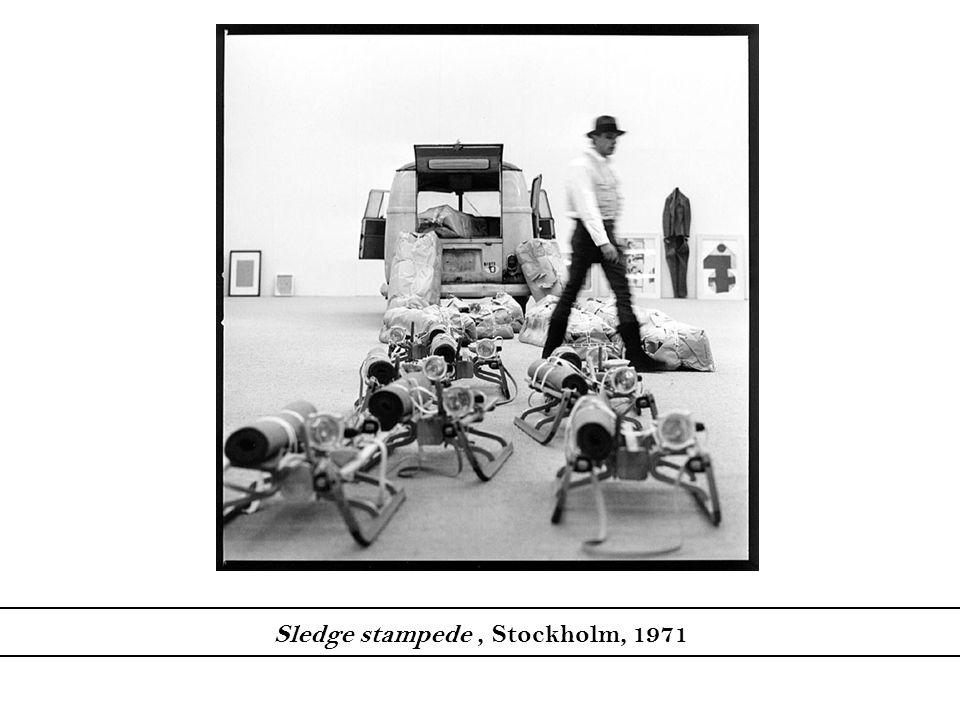 Sledge stampede, Stockholm, 1971