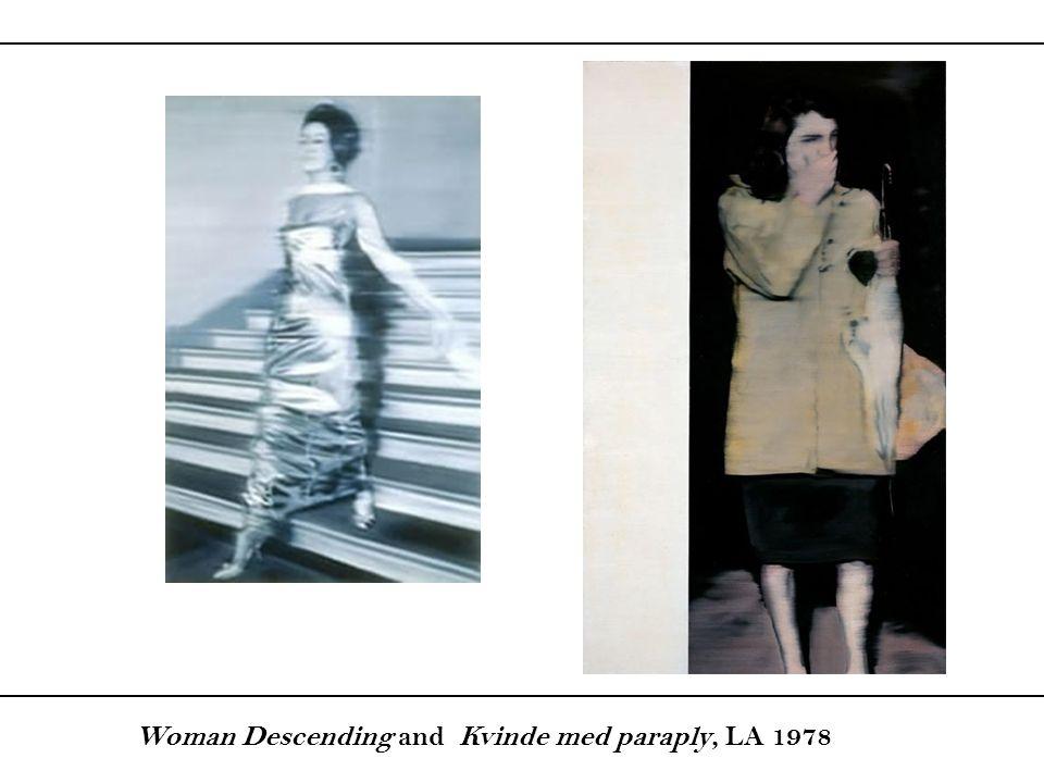 Woman Descending and Kvinde med paraply, LA 1978