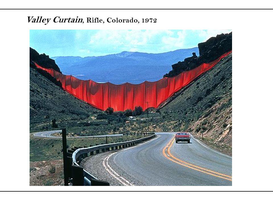 . Valley Curtain, Rifle, Colorado, 1972