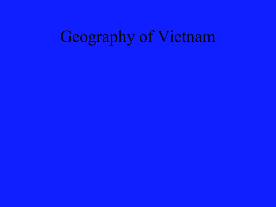 Geography of Vietnam