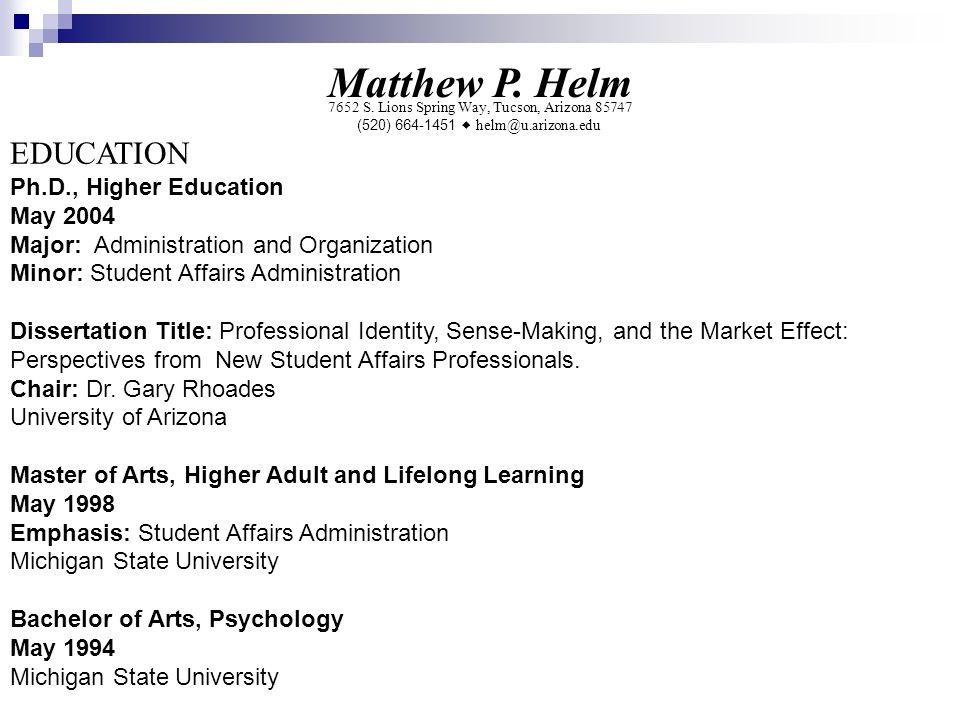 Matthew P. Helm 7652 S.