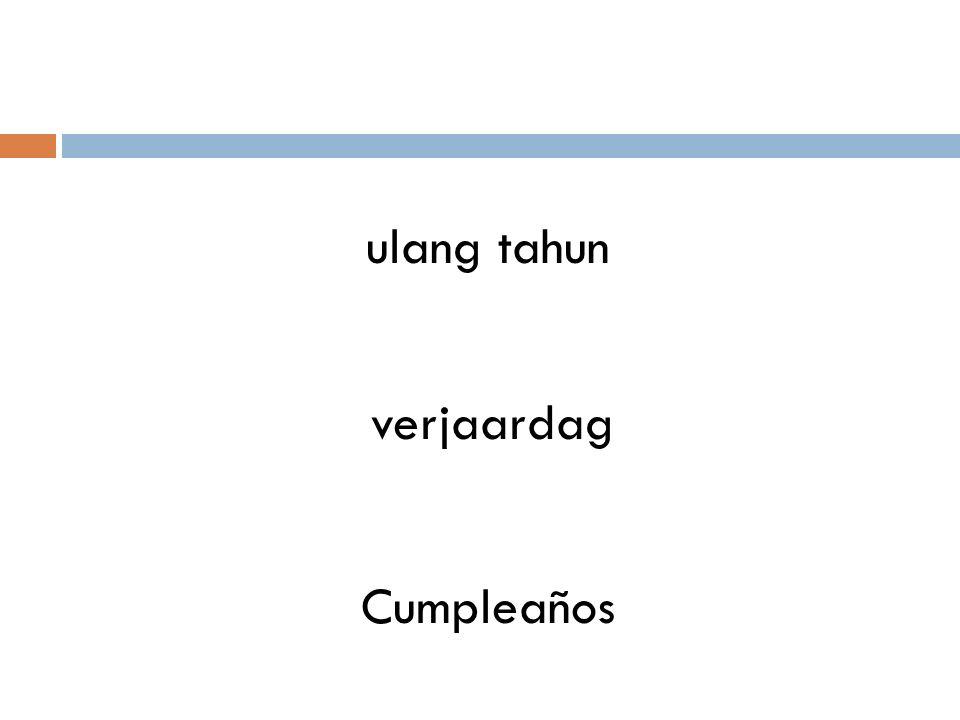 ulang tahun verjaardag Cumpleaños
