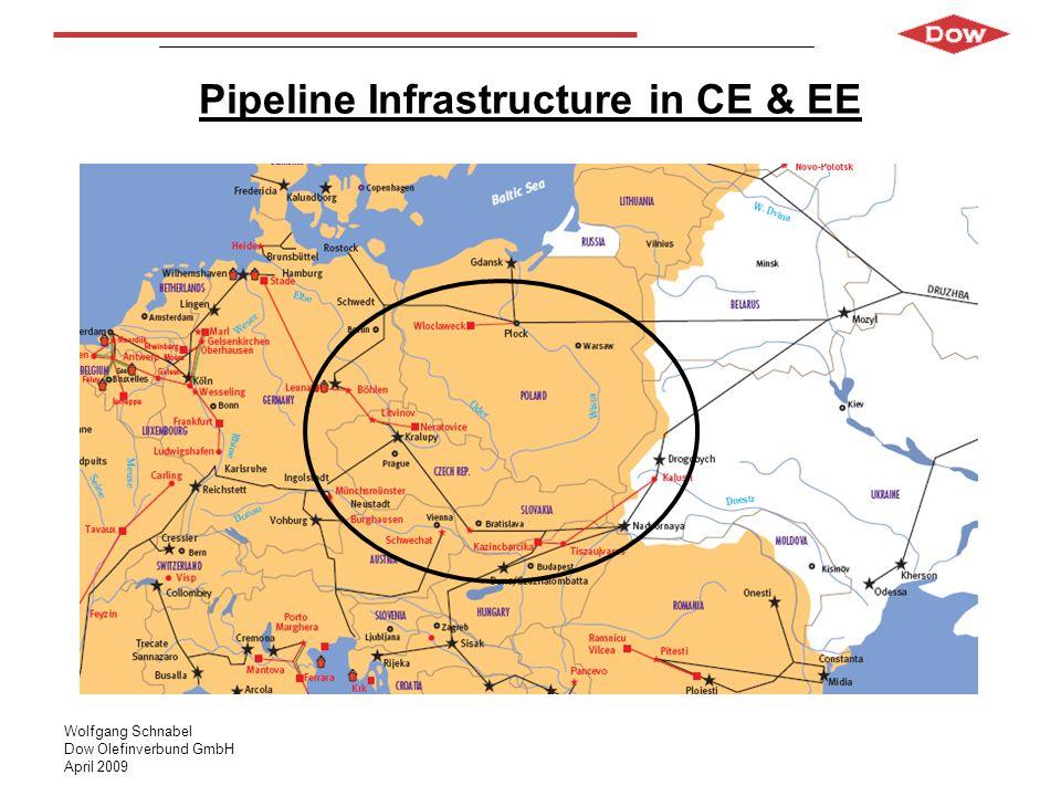 Wolfgang Schnabel Dow Olefinverbund GmbH April 2009 Pipeline Infrastructure in CE & EE