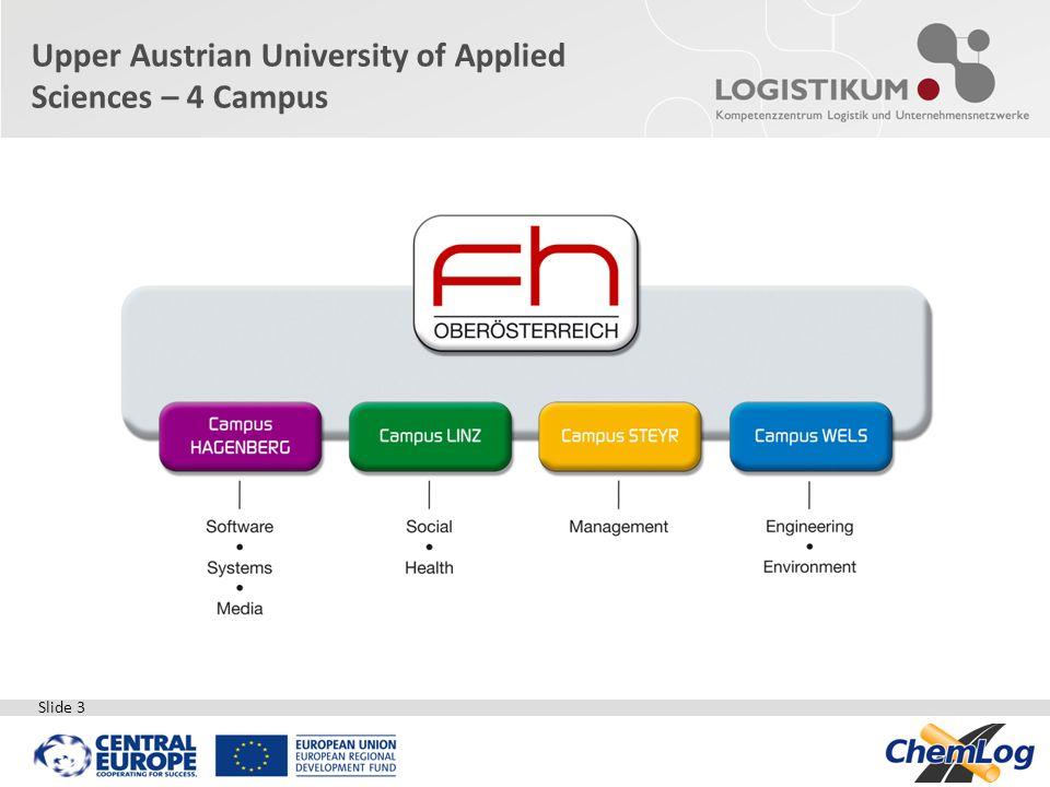 Slide 3 Upper Austrian University of Applied Sciences – 4 Campus