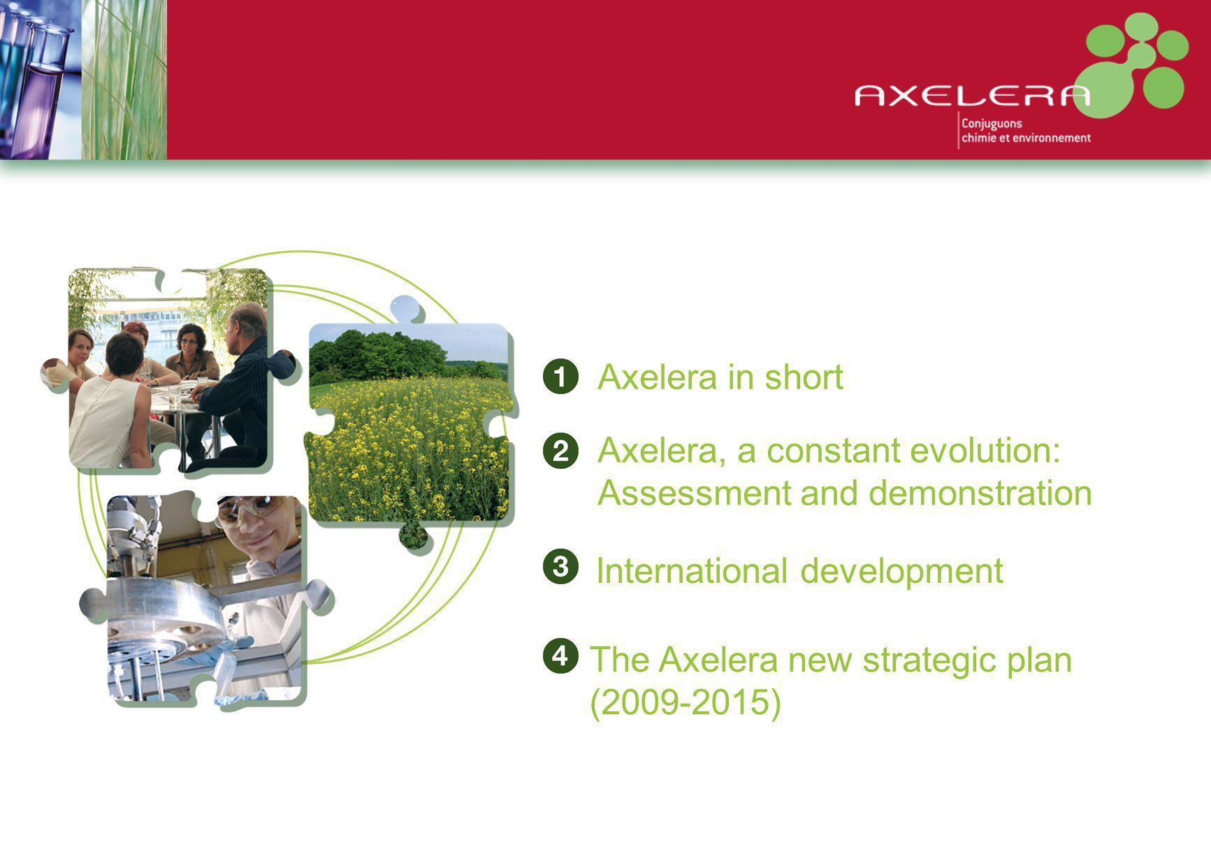 Operational actions plans Of Axelera for 2009-2015 Implement the ecosystems Develop the service offer dedicated to members and deploy the strategic and prospecting objectives Conduct promotion and communication actions Implement a shared resources policy