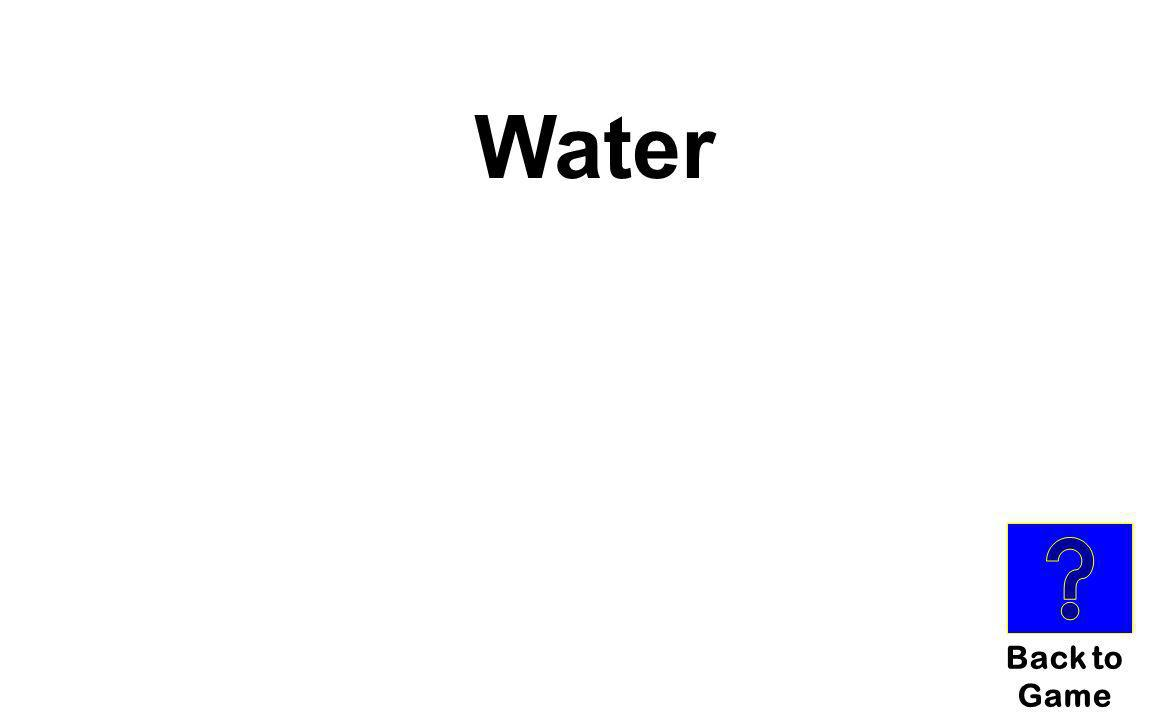 Common Compounds for $100 What is the common name for H 2 O?