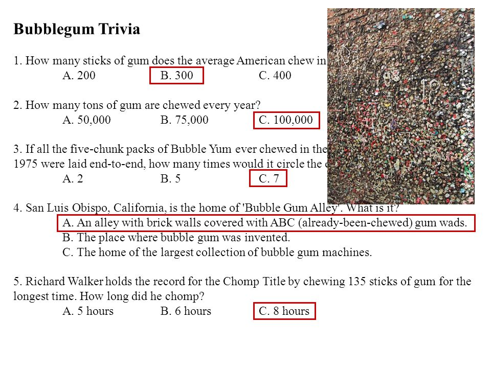 6.The Topps company holds the record for having made the largest single piece of bubble gum.