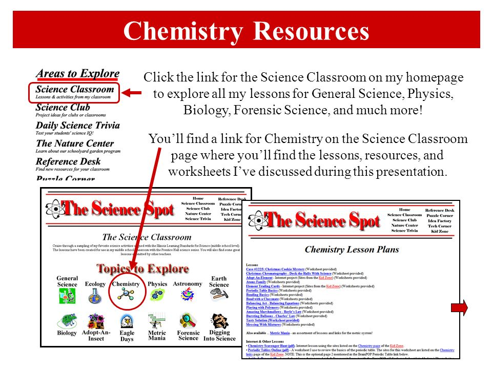 Click the link for the Science Classroom on my homepage to explore all my lessons for General Science, Physics, Biology, Forensic Science, and much mo
