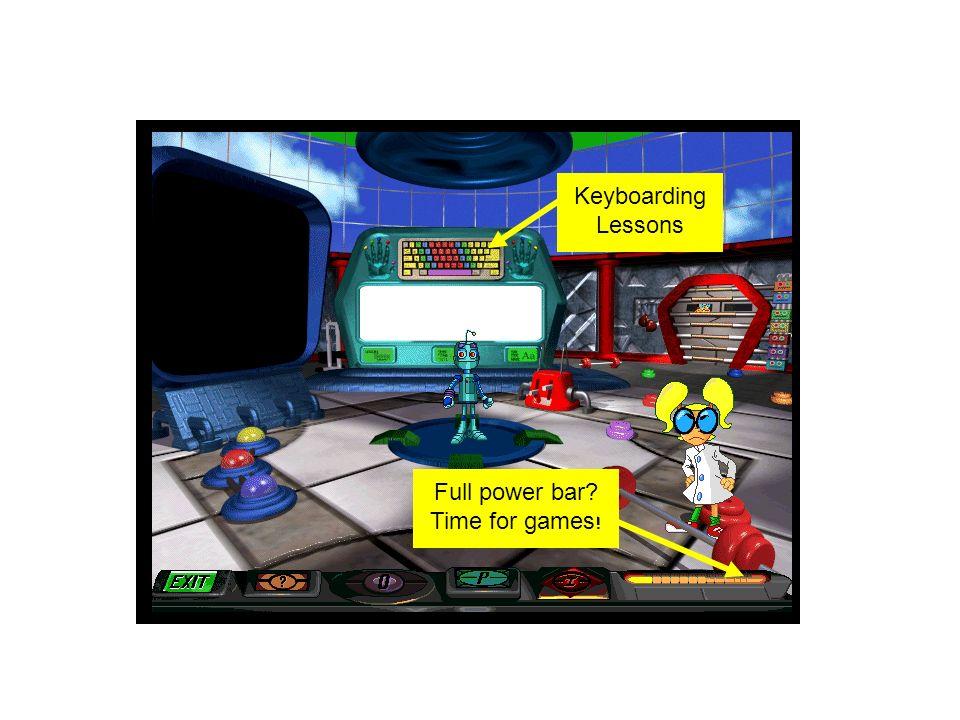 Keyboarding Lessons Full power bar? Time for games!