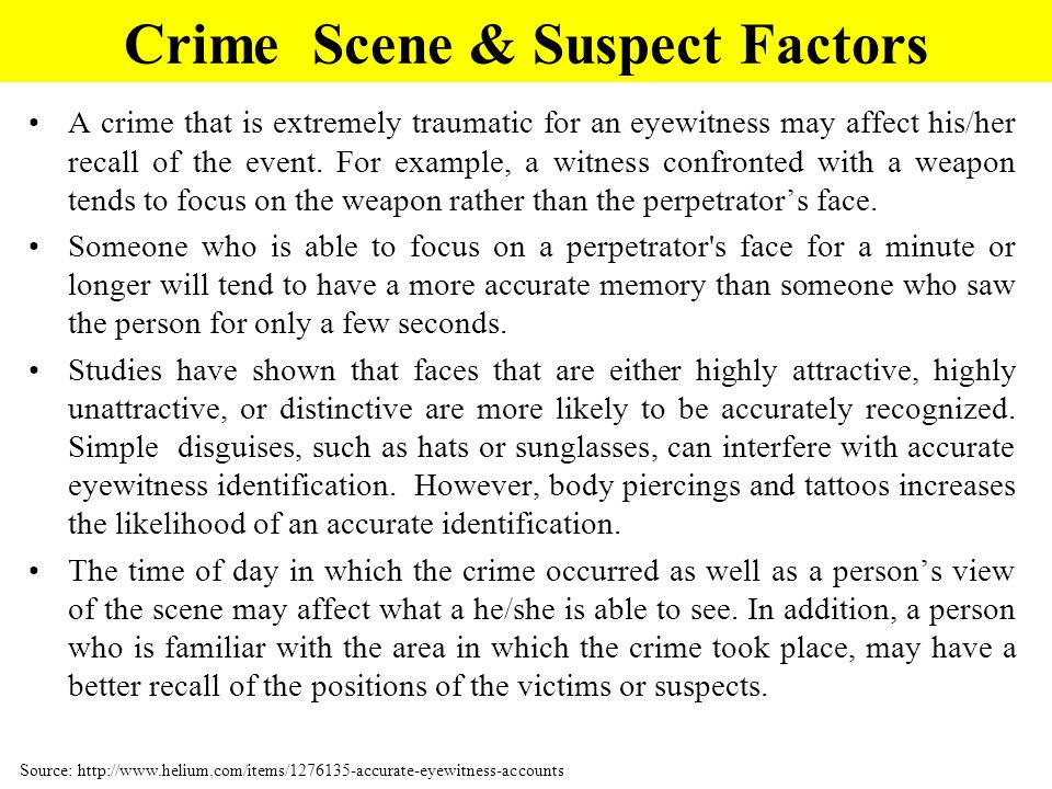 Crime Scene Challenge Now that your eyes and brain are warmed up, lets test your observation skills a bit more.